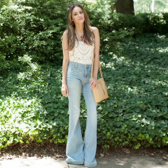 70's Hippie Fashion Photos Bell Bottoms amp Floral Lace