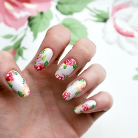 Inspired nails gallery stylegawker diy floral nail art prinsesfo Gallery