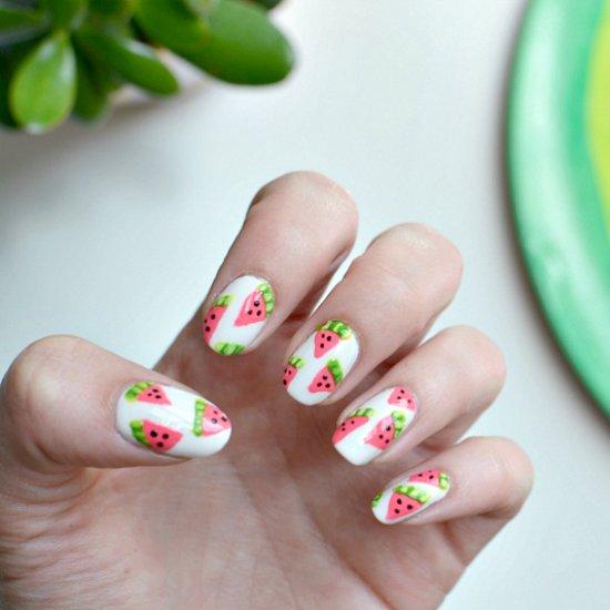 Watermelon Nail Art Tutorial Stylegawker
