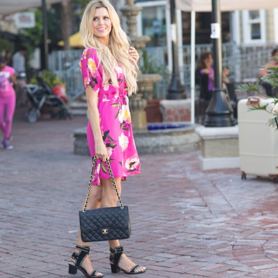 9ef2c504be0d hot pink floral dress | stylegawker